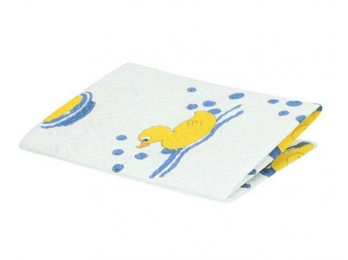 Přebalovací podložka Akuku 55x70 bílá s kačenkami