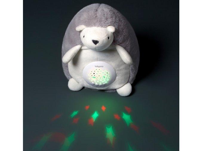 BabyOno Projektor s melodií Ježek Hugo, šedý (1)