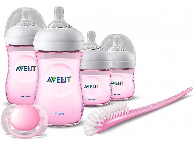 Philips Avent novorozenecká startovní sada Natural růžová