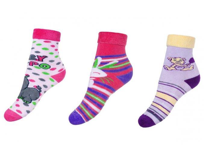 BeSnazzy protiskluzové ponožky pro zdravé lezení a první krůčky dívčí