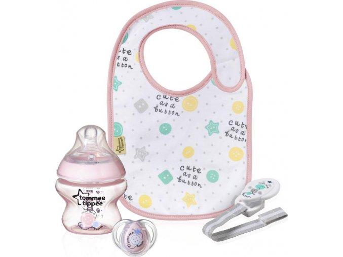 Tommee Tippee dárková kojenecká sada růžová