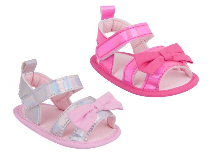 YO Capáčky, sandálky lesklé s mašličkou 6 12m