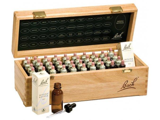 Bachovy originální květové esence kompletní set 20 ml v dřevěném boxu