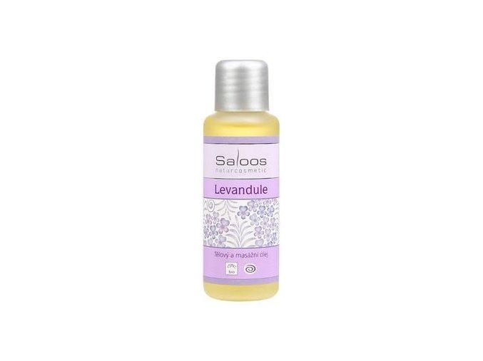 Tělový a masážní olej LEVANDULE 50ml Saloos
