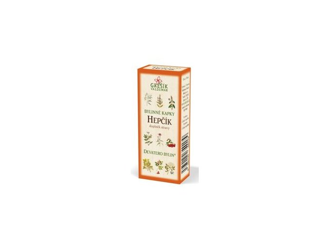Grešík bylinné kapky Hepčík 50 ml