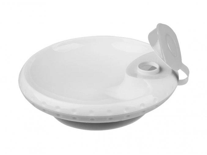 BabyOno termo miska s přísavkou vyhřívaná horkou vodou (šedá) (2)