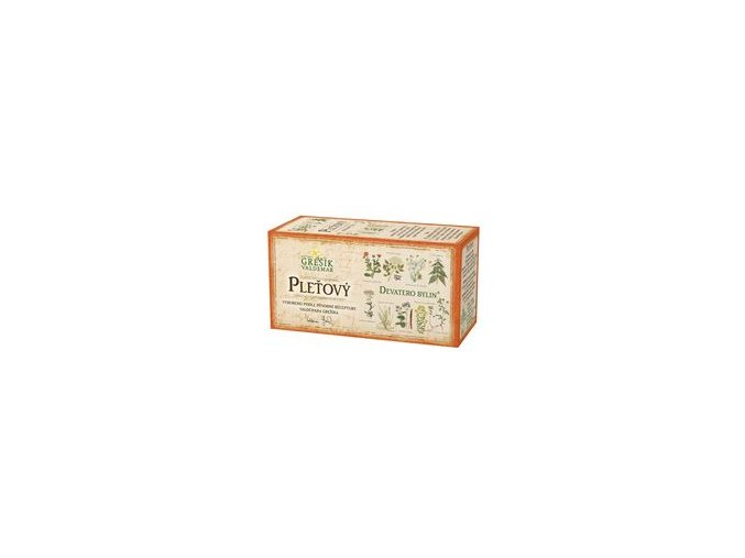Grešík Pleťový čaj 20x1g Devatero bylin