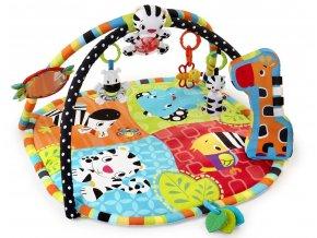 Bright Starts Deka podporující vývoj s hrazdou a hračkami Spots & Stripes Safari (0m+)