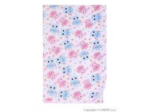 Přebalovací podložka Akuku 55x70 - sovičky růžovomodré
