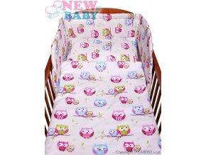 New Baby 2-dílné povlečení - bílé - sovičky