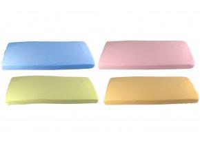 4 barvy prostěradla bio bavlna