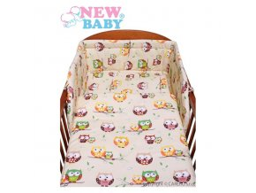 New Baby 2-dílné povlečení - béžové - sovičky