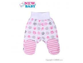 Kojenecké polodupačky New Baby Sloník bílo-růžové
