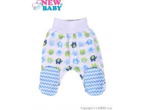 Kojenecké polodupačky New Baby Sloník bílo-modré