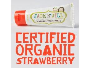 Jack N´ Jill dětská přírodní zubní pasta s příchutí Jahoda 50 g