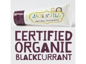 Jack N´ Jill dětská přírodní zubní pasta s příchutí Černý rybíz 50 g