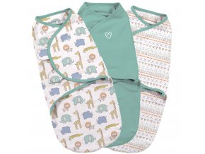 Summer Infant SwaddleMe zavinovačka safari sada, 3ks