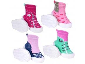 YO Ponožky s gumovou podrážkou froté dívčí 2