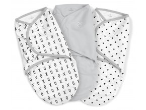 Summer Infant SwaddleMe zavinovačka XO sada, 3ks (1x šedá, 2x bílá)