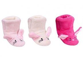 YO Zimní capáčky, kojenecké botičky králiček Emu dívčí (4)
