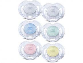 AVENT Šidítko Průhledné 0-6m.bez BPA 2ks