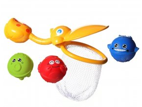 BabyOno hračka do vody Pelikán rybářská síťka s míčky (1)