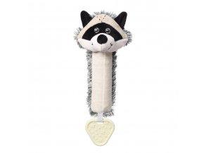 BabyOno plyšová pískací hračka s kousátkem Mýval Rocky (1)