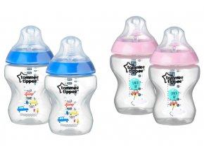 Tommee Tippee lahvičky 260ml barevné 2ks