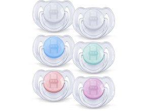 AVENT Šidítko Průhledné 6-18m.bez BPA 2ks