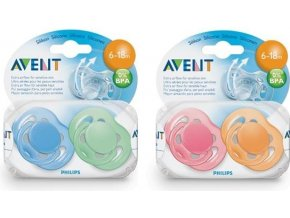 AVENT Šidítko Sensitive 6-18m.bez BPA 2ks