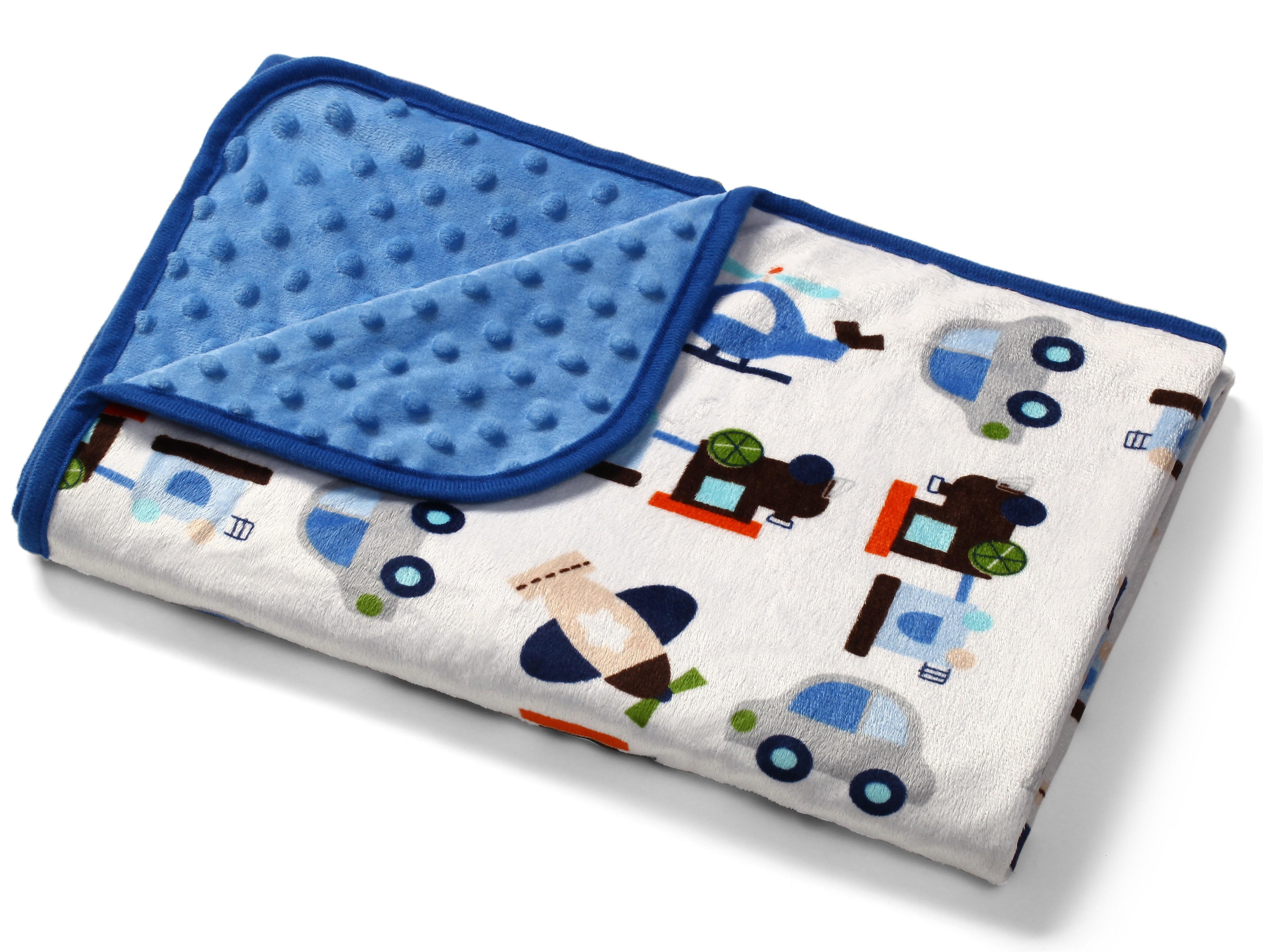 Baby Ono Dětská deka Bublinky oboustranná 74x100 cm - modrá