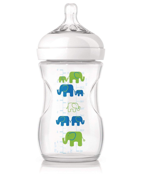 Avent láhev Natural PP slon 260 ml - modrozelená