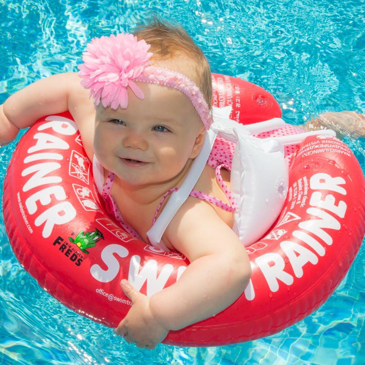 Swimtrainer Classic plavací kruh pro miminka barva: červený (3 měsíce-4 roky),6-18kg