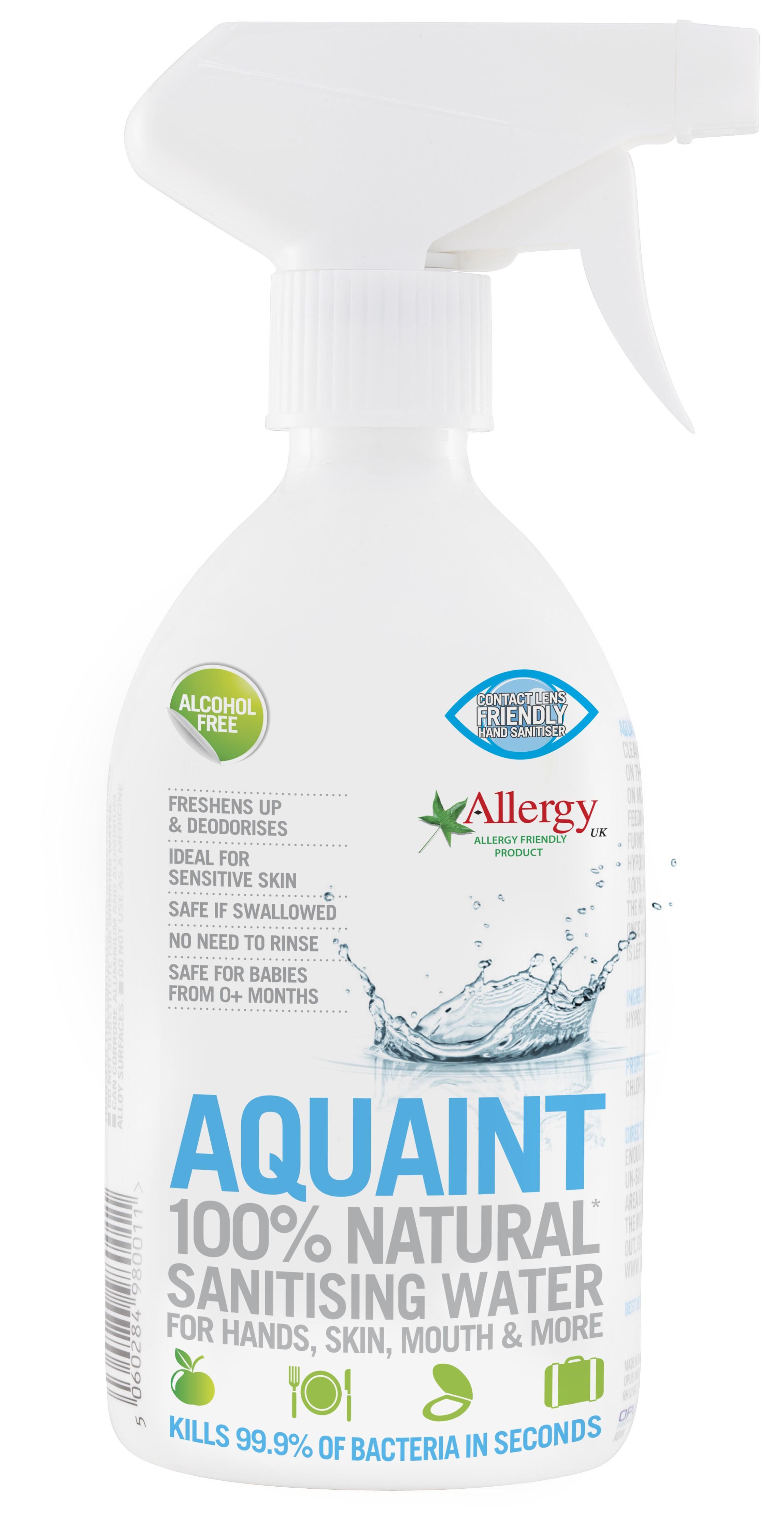 Aquaint 100% přirozená dezinfekční voda - bez alkoholu objem: 500ml