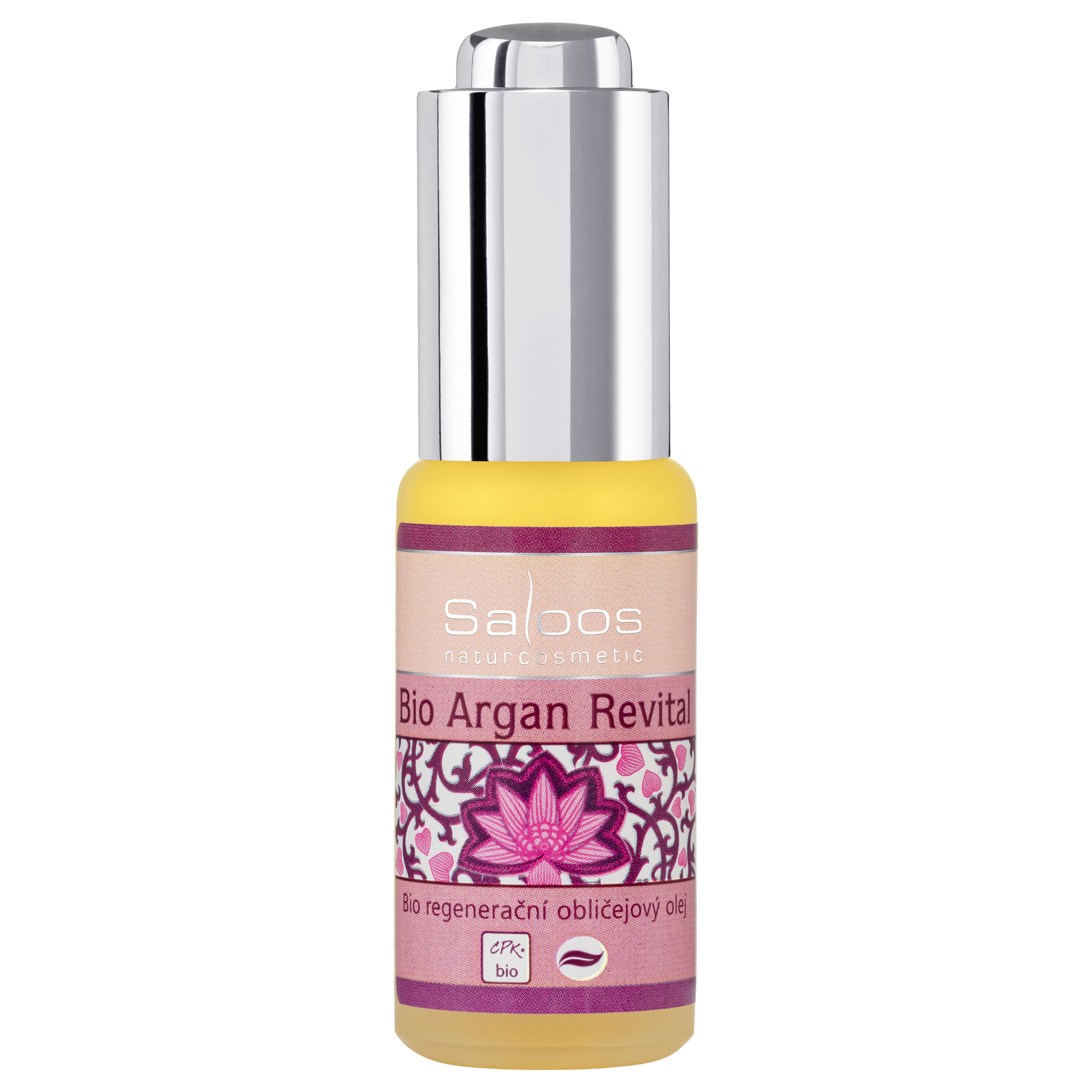 Regenerační obličejový olej BIO ARGAN REVITAL 20ml Saloos