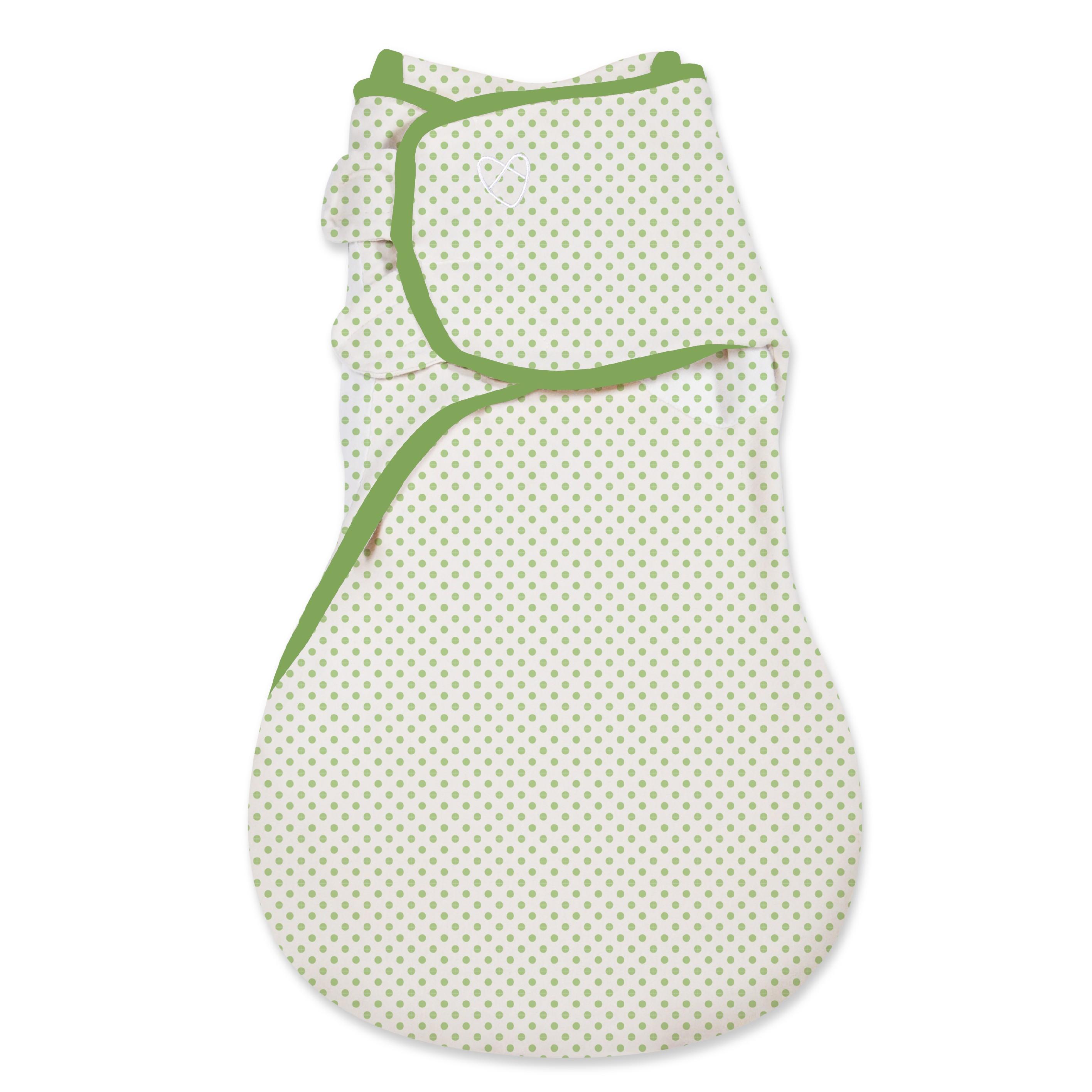 SwaddleMe Spací vak zelené puntíky 5-9M