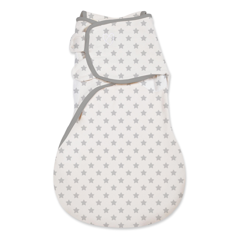 Summer Infant SwaddleMe Spací vak šedé hvězdy 1-4M