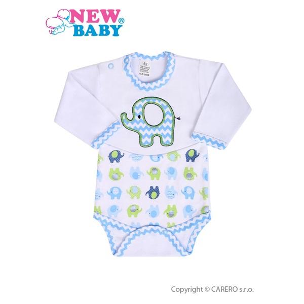 Kojenecké body s dlouhým rukávem New Baby Sloník bílo-modré velikost  62 ... 1a329ccb5b