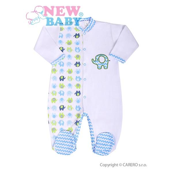 Kojenecký overal New Baby Sloník bílo-modrý velikost: 68