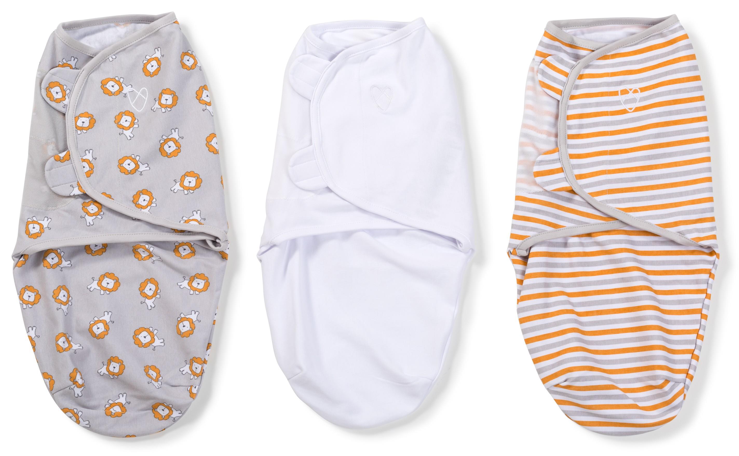 Summer Infant SwaddleMe zavinovačka sada 3ks Lvi, proužky, bílá- Doprava zdarma velikost: S (3,2-6,4kg) od narození do cca 3 měsíců