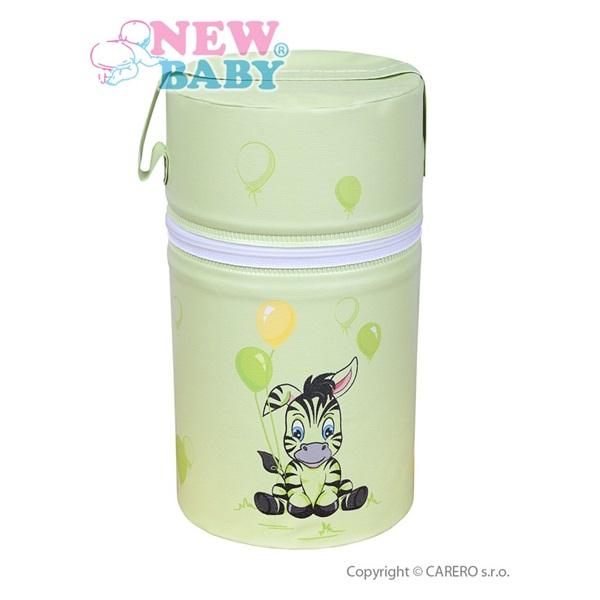 Termoobal Mini na kojeneckou lahev - Zebra zelená