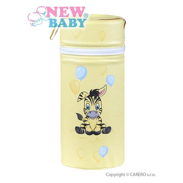 Termoobal Jumbo na kojeneckou lahev - ZEBRA žlutá