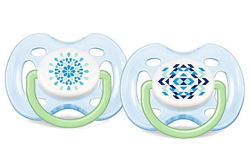 AVENT Šidítko Sensitive Fantazie 0-6m. bez BPA 2ks barva: modrá