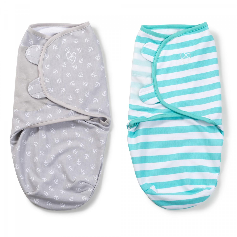 Summer Infant SwaddleMe zavinovačka 2ks mořská kotva/tyrkysový proužek - Doprava zdarma velikost: S (3,2-6,4kg) od narození do cca 3 měsíců