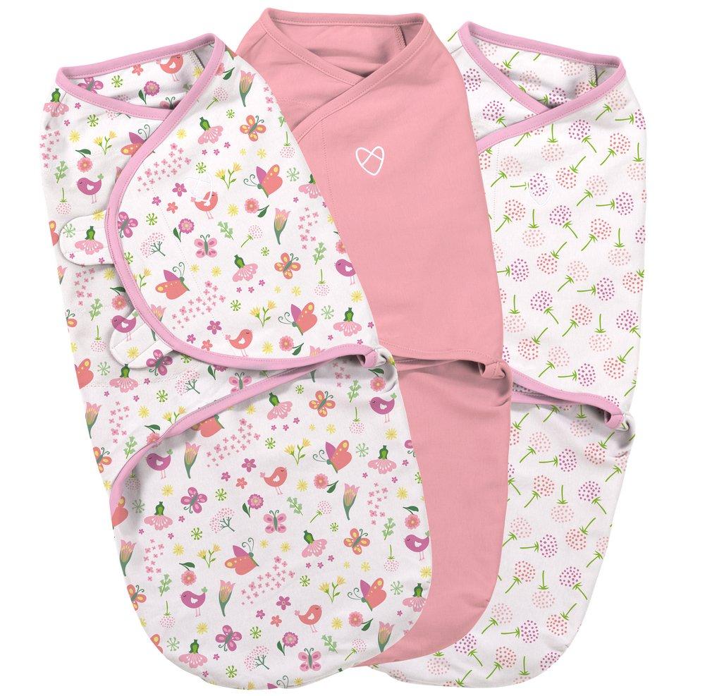 Summer Infant SwaddleMe zavinovačka růžová sada, 3ks - Doprava zdarma velikost: S (3,2-6,4kg) od narození do cca 3 měsíců