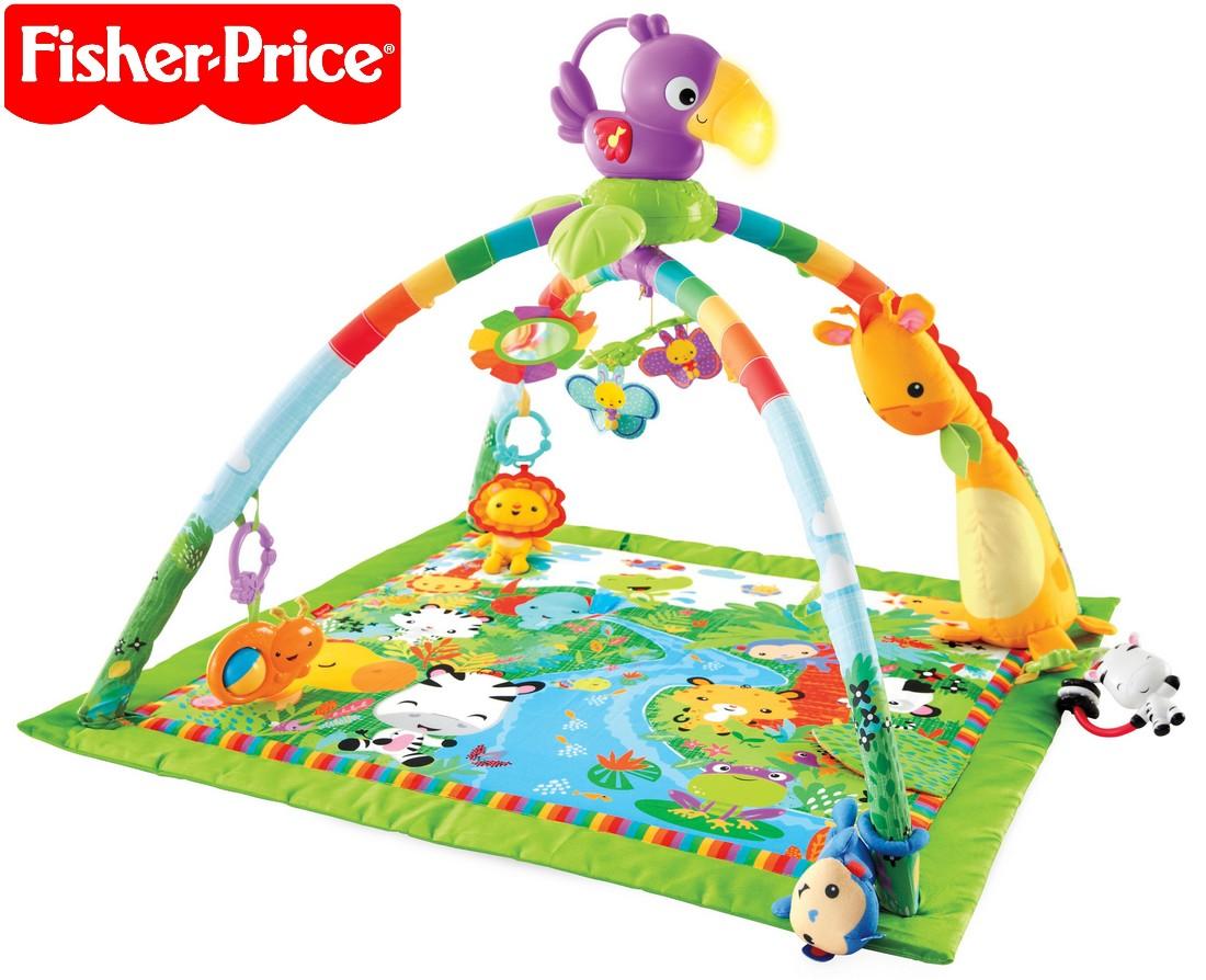 Fisher-Price Rainforest Deluxe hrací deka s hrazdičkou