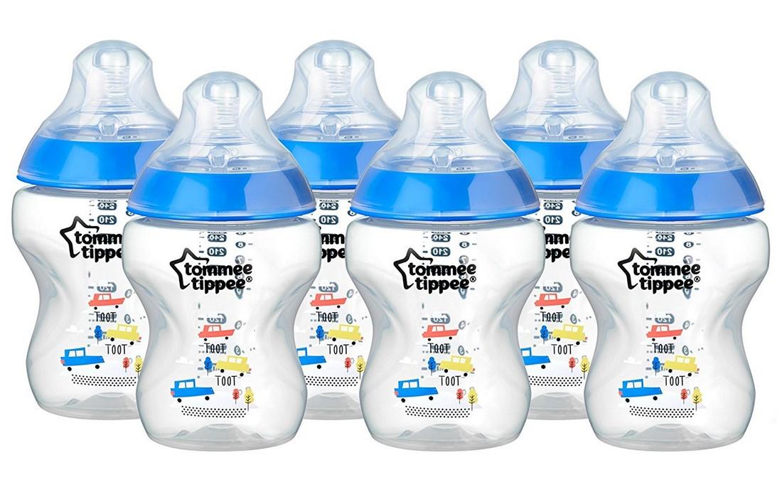 Tommee Tippee modrá sada lahviček C2N 6ks, 260ml 0m+