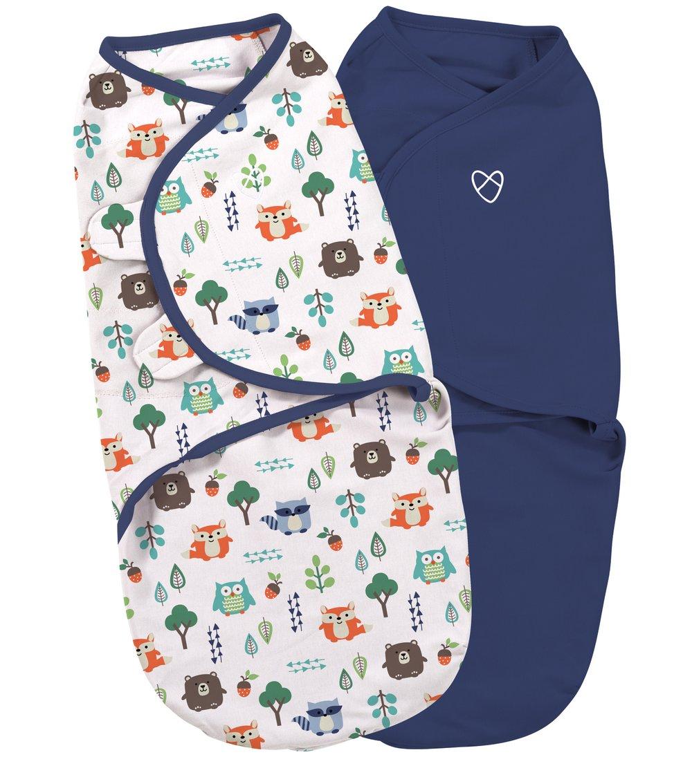 Summer Infant SwaddleMe zavinovačka 2ks modrá/lesní motiv - Doprava zdarma velikost: S (3,2-6,4kg) od narození do cca 3 měsíců