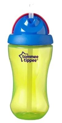 Tommee Tippee sportovní láhev s brčkem 12m+, 300ml barva: zelená