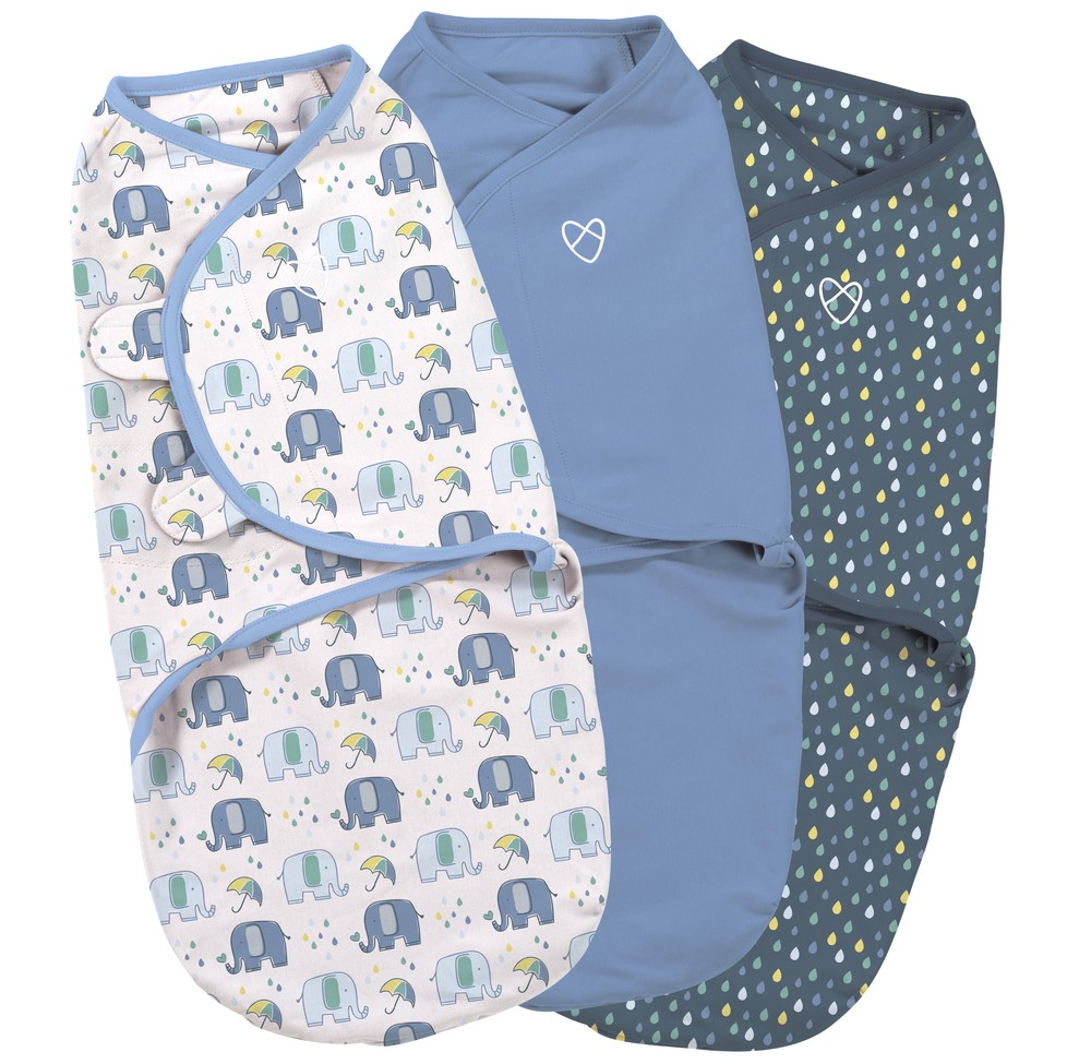 Summer Infant SwaddleMe zavinovačka modrá sada, 3ks - Doprava zdarma velikost: S (3,2-6,4kg) od narození do cca 3 měsíců